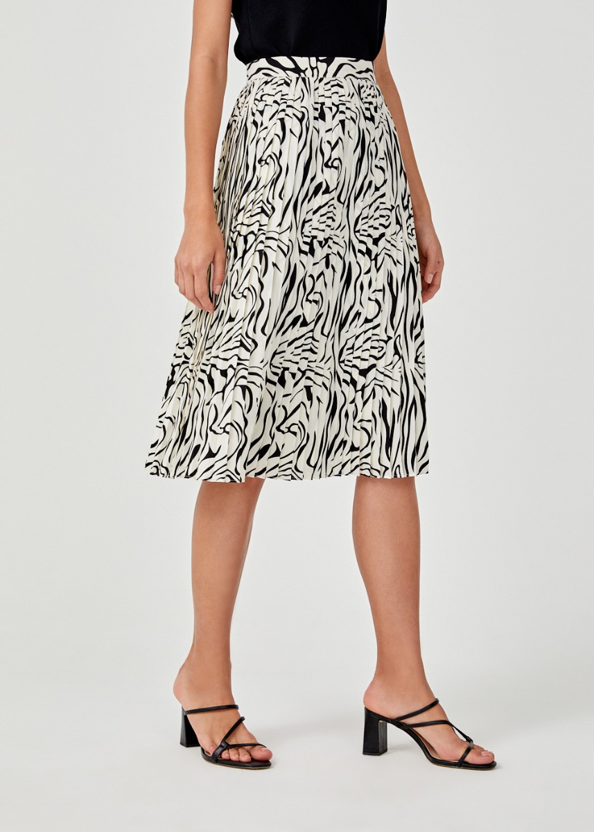 Rorie Pleated Midi Skirt