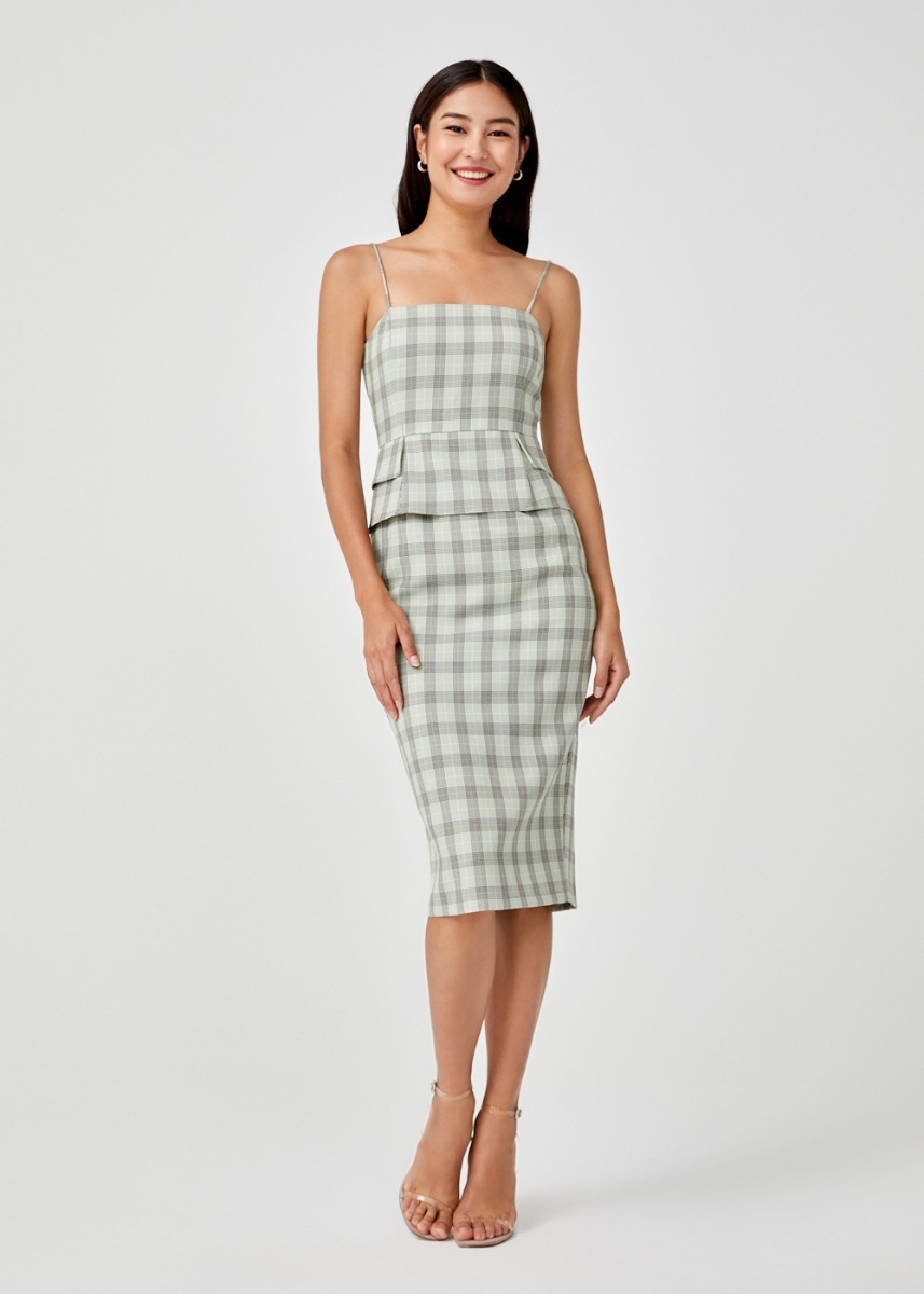 Molly Plaid Bodycon Dress