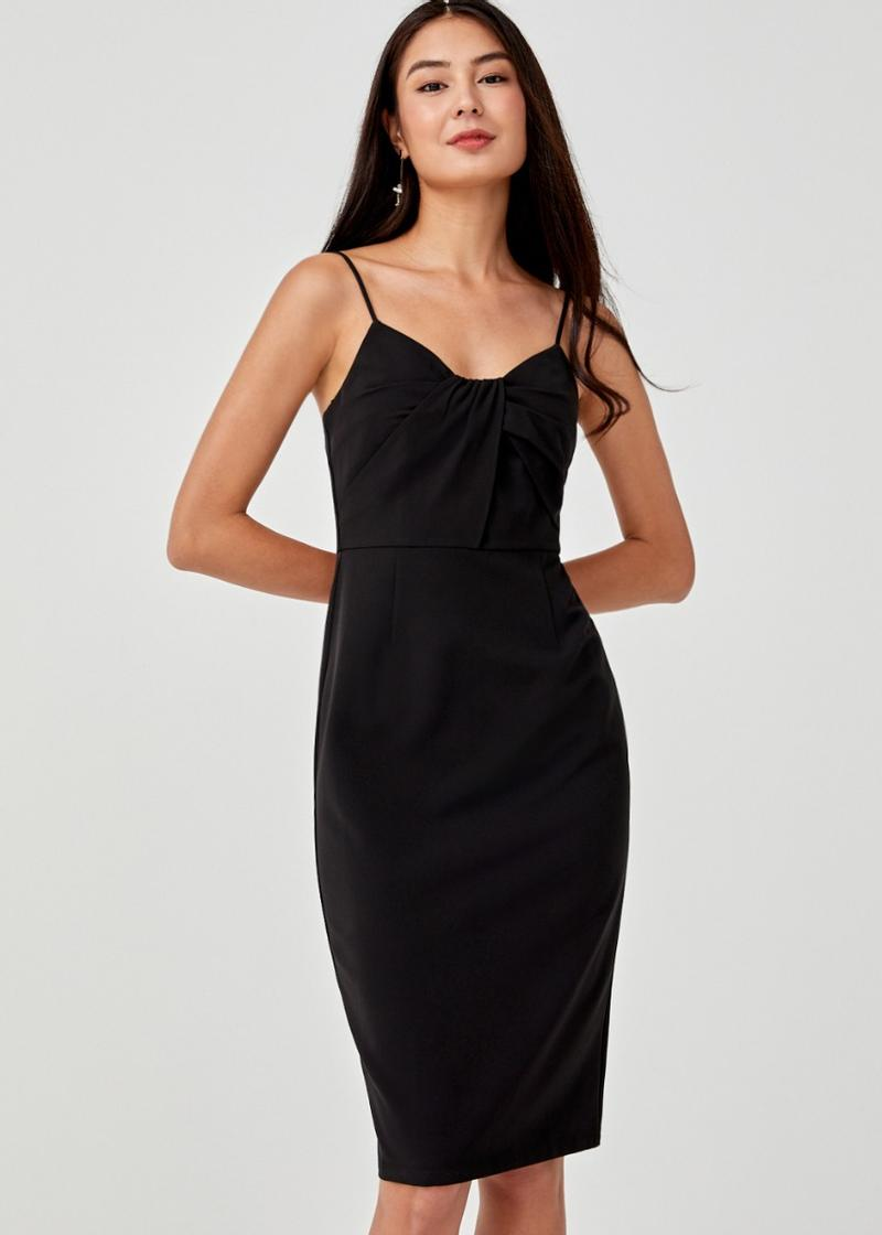 Giselle Knot Front Camisole Dress