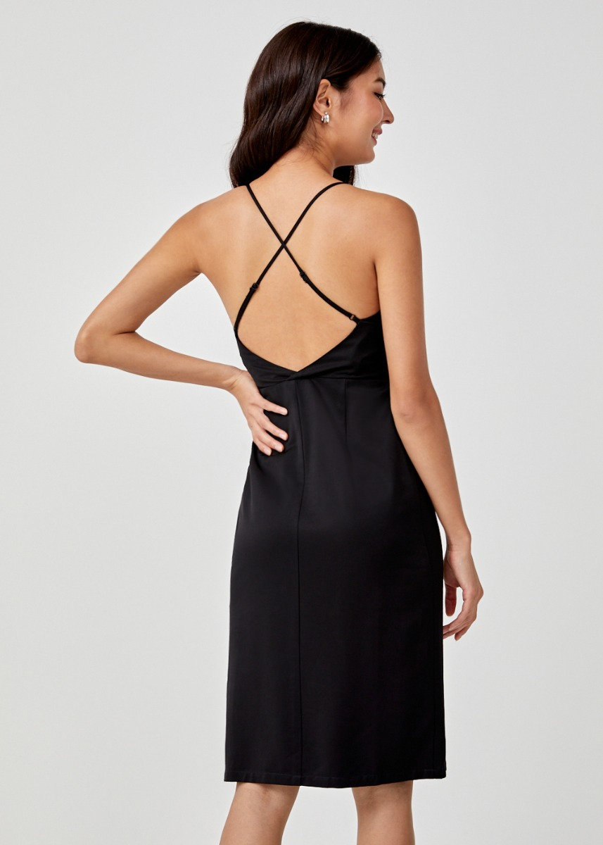 Julita Cross Back Midi Dress