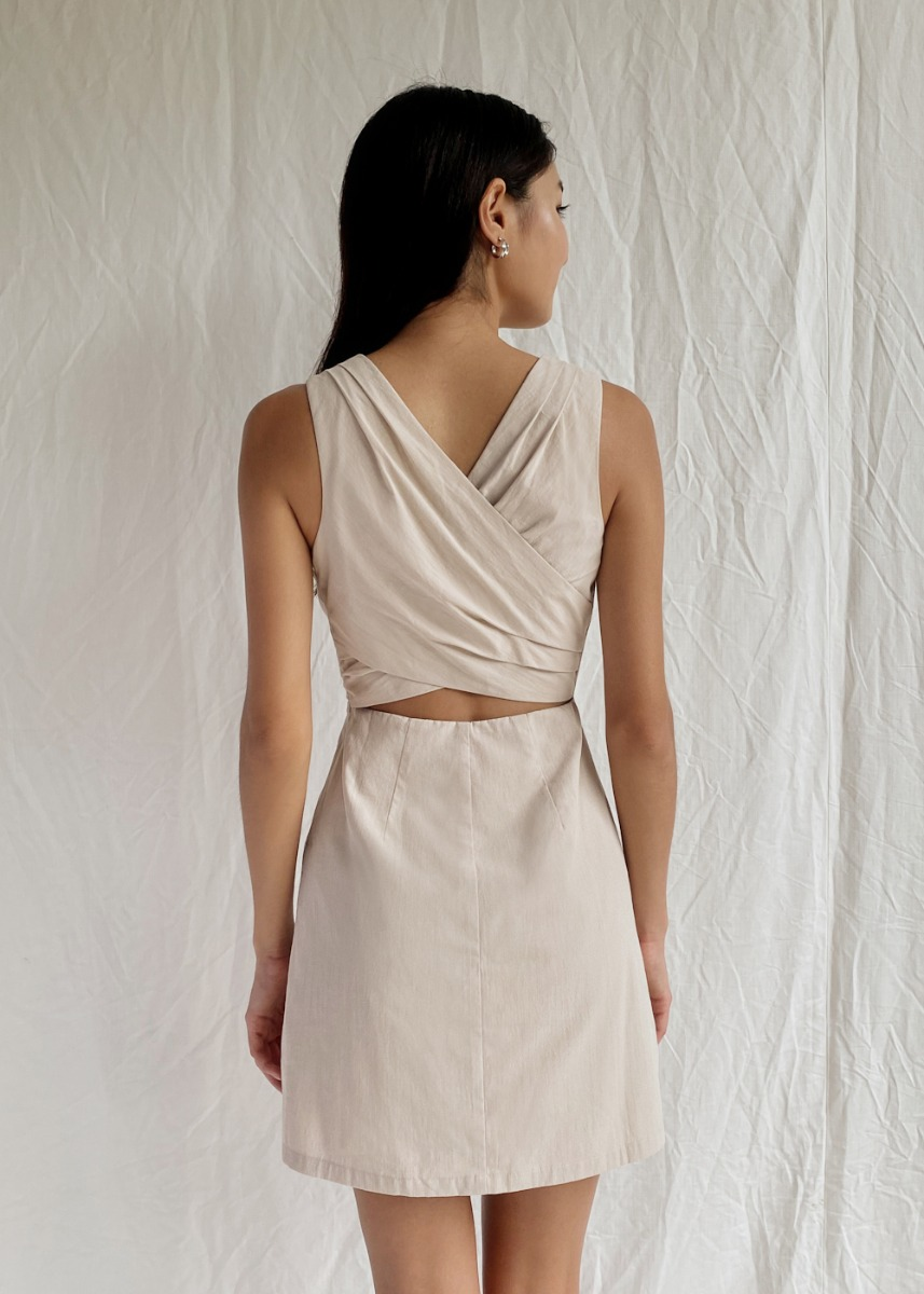 Lydia Cross Back A-line Dress
