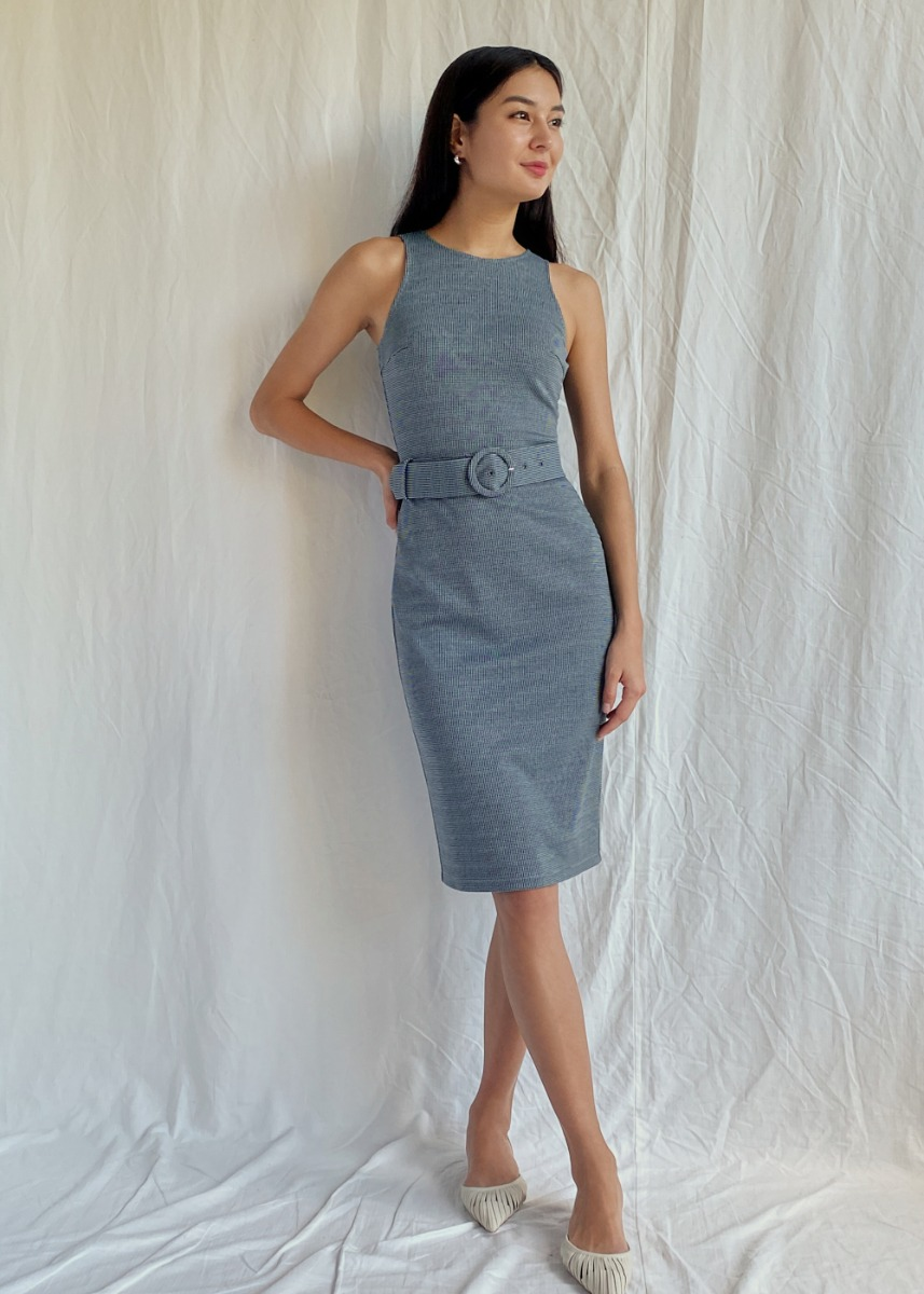 Devora Belted Bodycon Dress