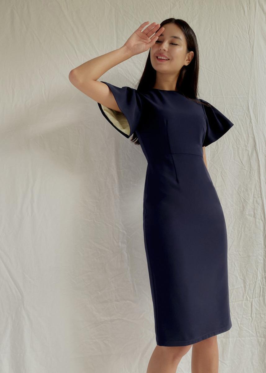 Monica Flare Sleeve Midi Dress