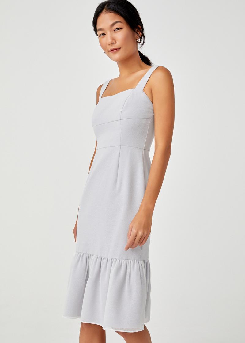 Reverie Ruffle Hem Midi Dress