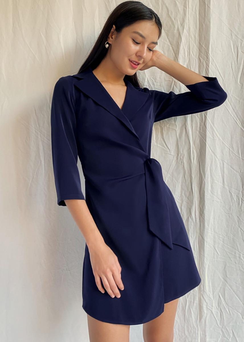 Catharina Wrap Blazer Dress