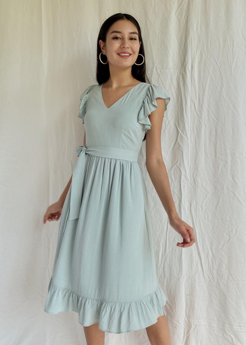 Lamisa Ruffle Textured Dress
