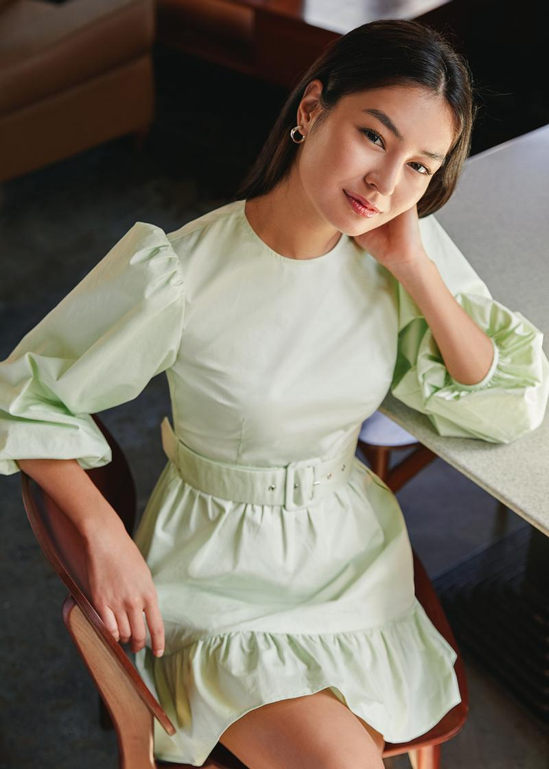 Ashby Belted Puff Sleeve Dress
