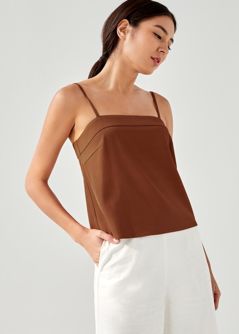 Kehlanie Straight Neck Camisole Top