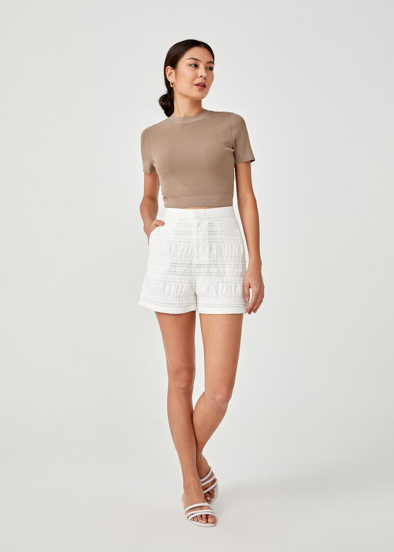 Julie Textured Shorts
