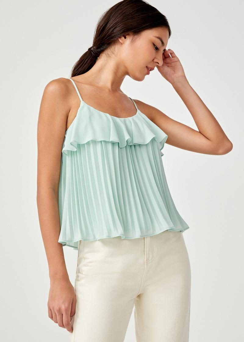 Brienne Ruffle Pleated Camisole Top