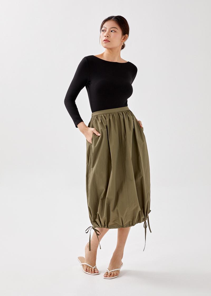 Mayla Drawstring Bubble Skirt