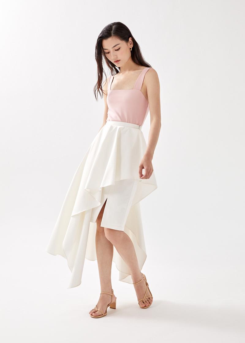 Shayli Asymmetrical Waterfall Skirt