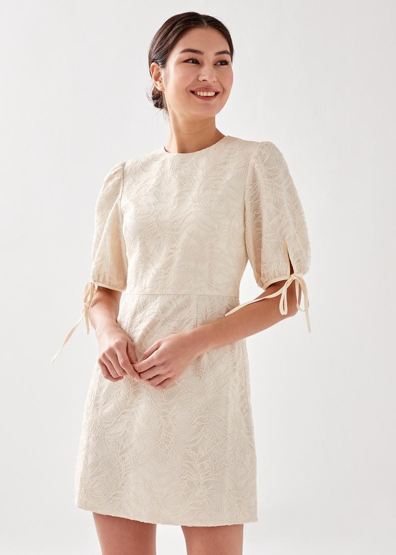 Sprie Tie Sleeve Lace Dress