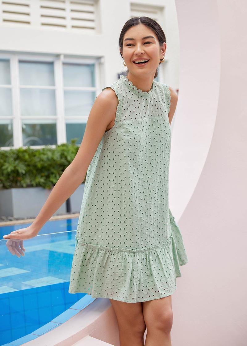 Mabelle Broderie Dropwaist Dress