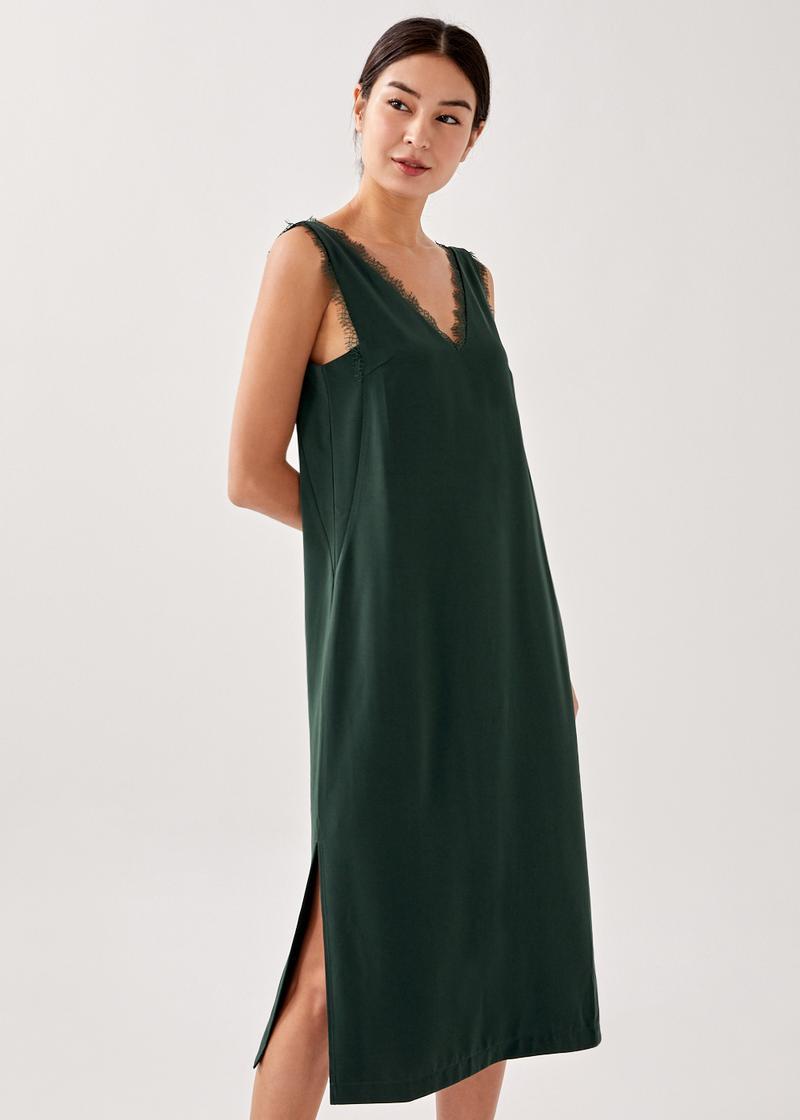 Lianna Contrast Column Midaxi Dress