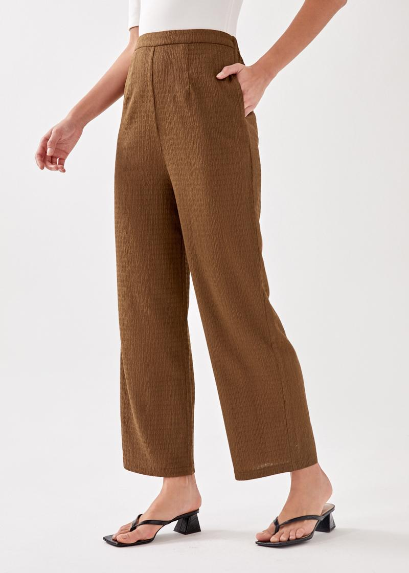 Milanno Textured Relaxed Pants