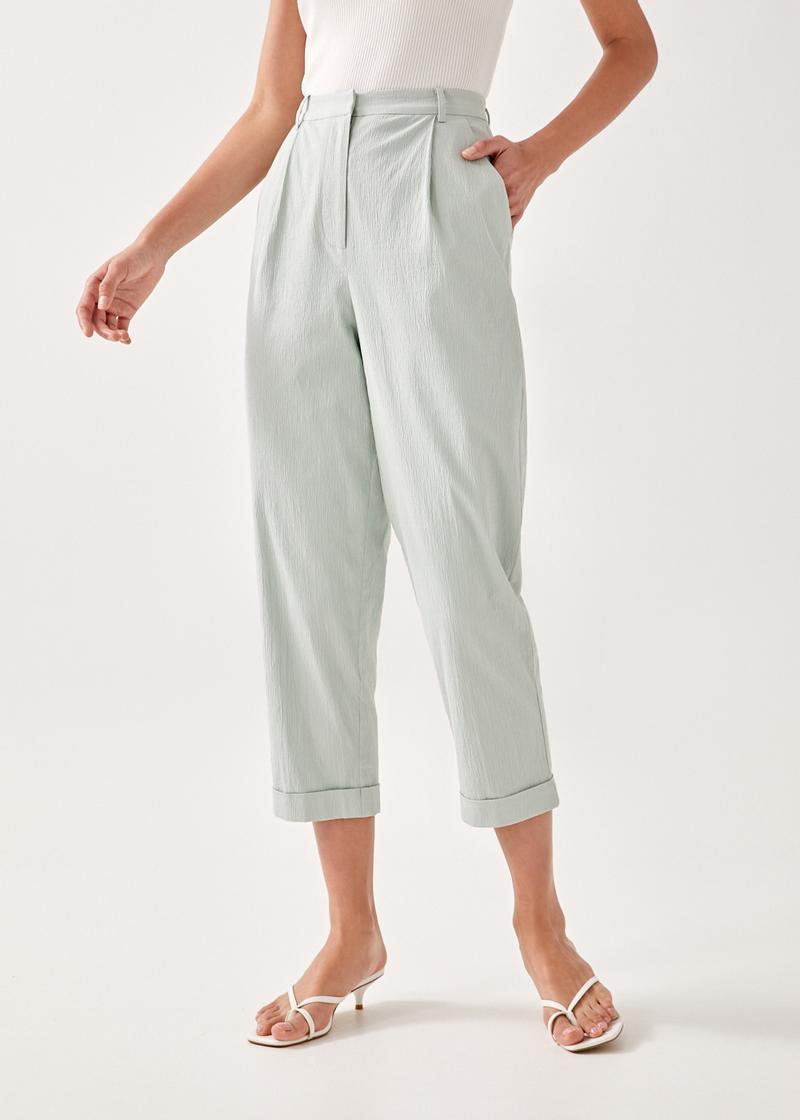 Emyra Textured Peg Leg Pants