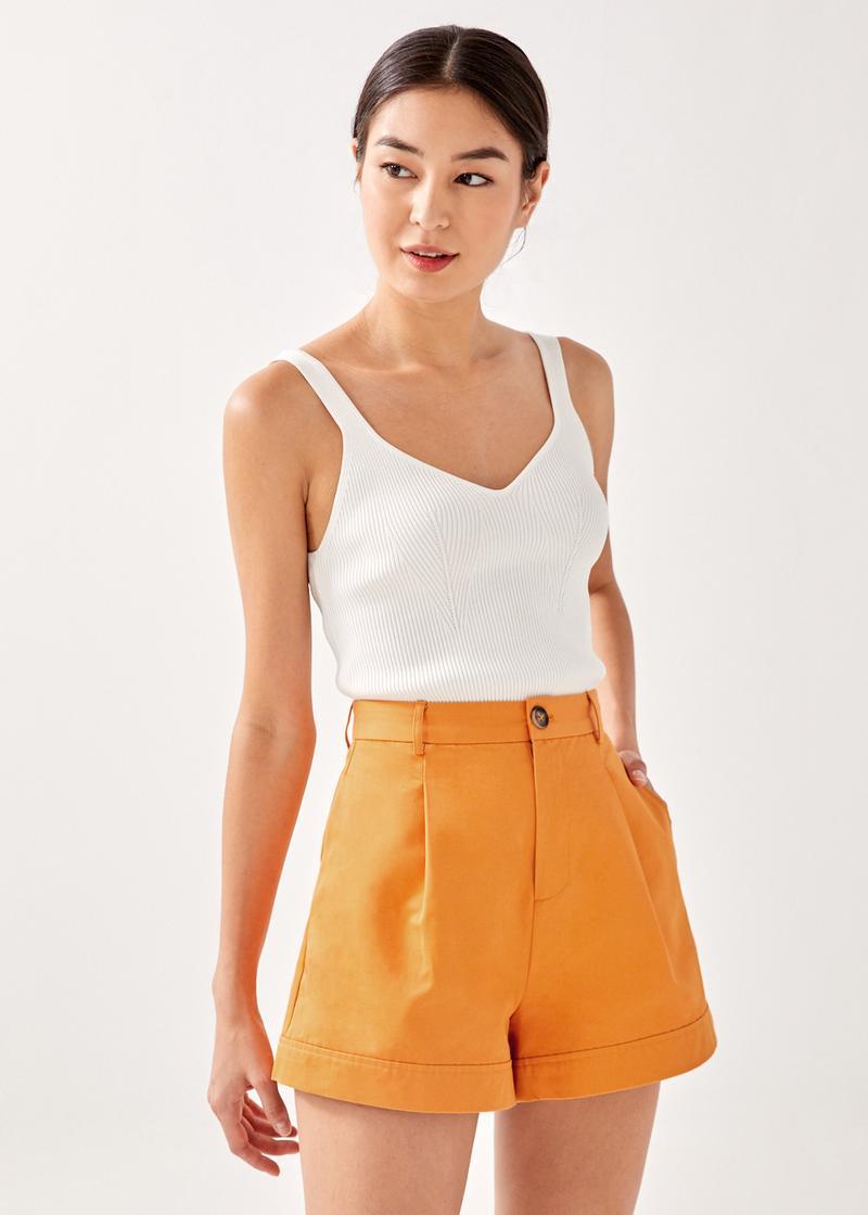Haelynn Tailored Cuffed Shorts