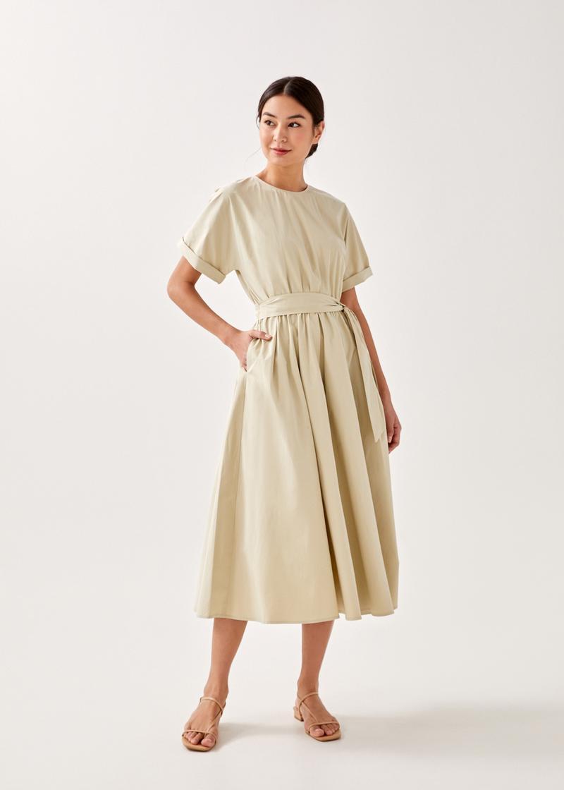 Ezri Sash Midi Dress