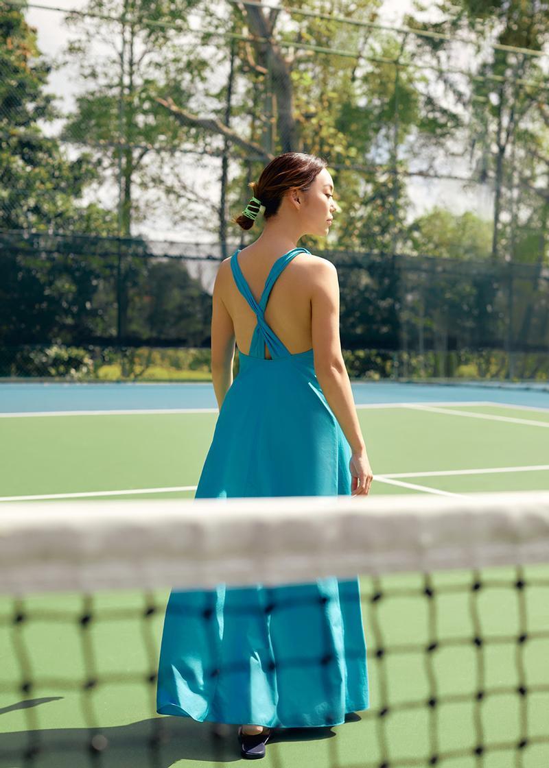Mace Twist Strap Low Back Maxi Dress