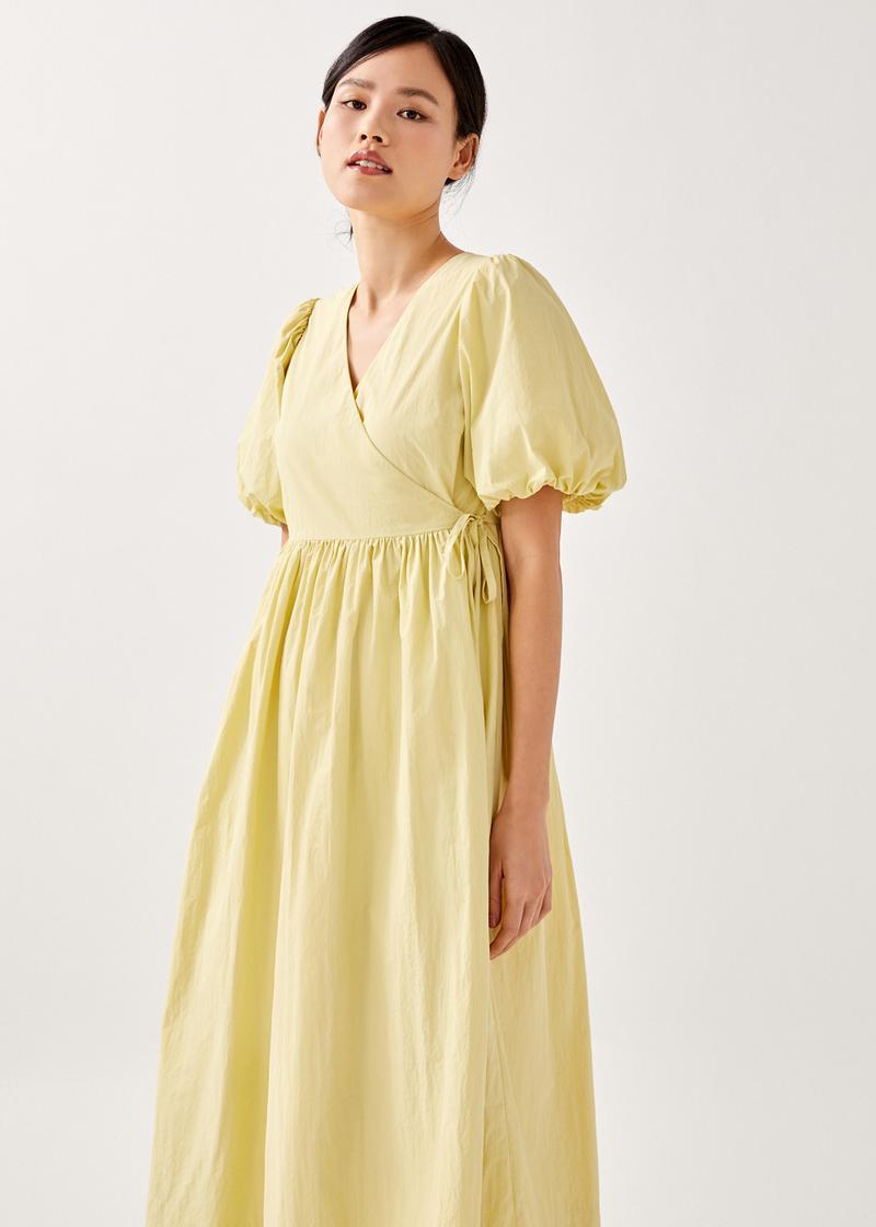 Liara Wrap Midi Dress