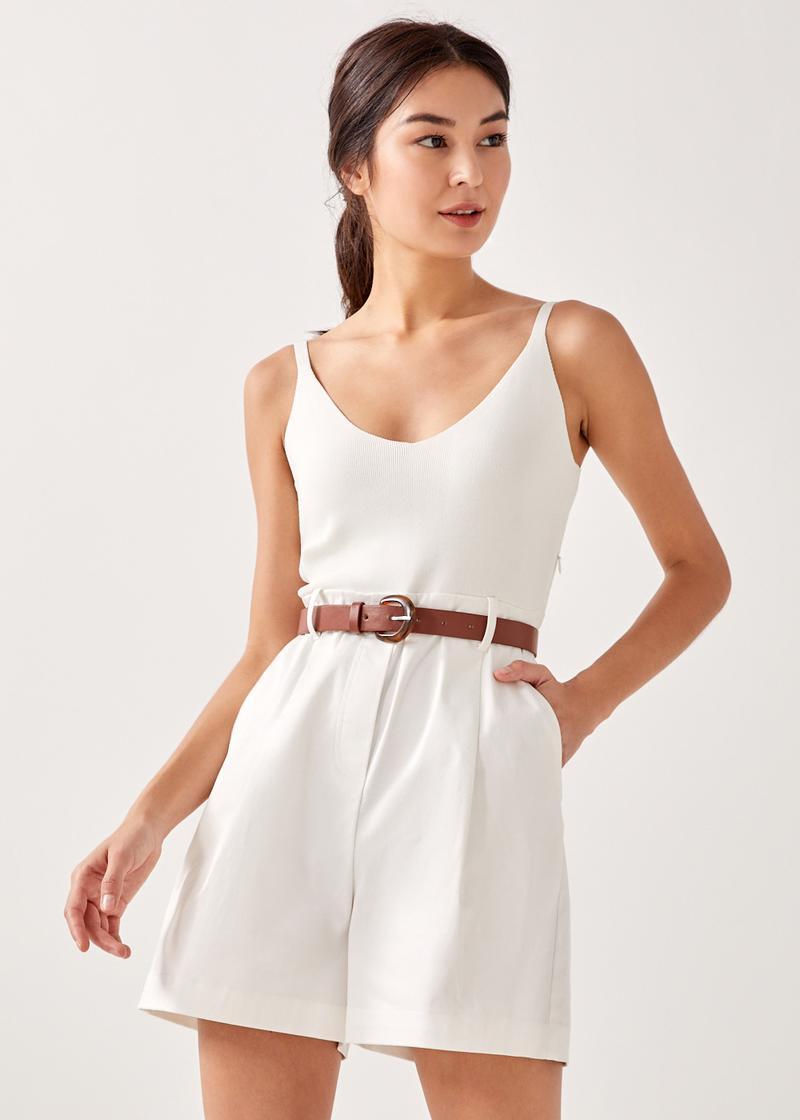 Anastasia Contrast Tailored Romper