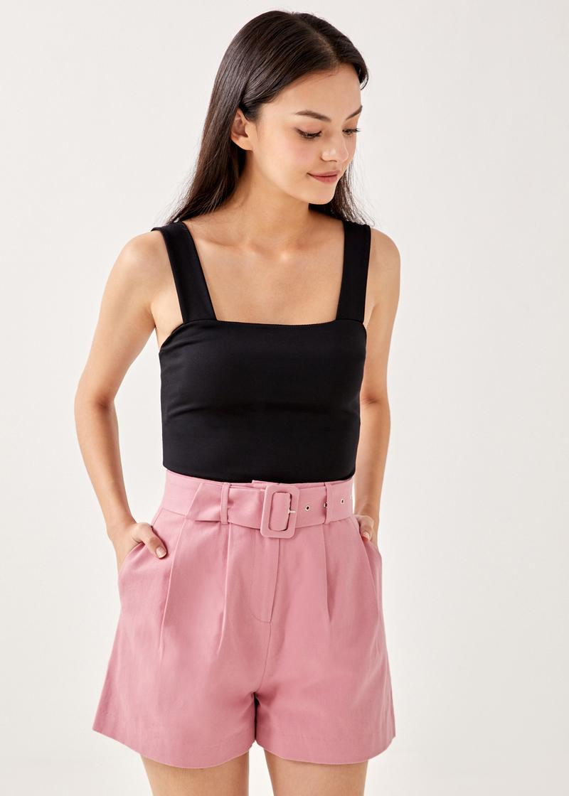 Athena Belted Tailored Shorts