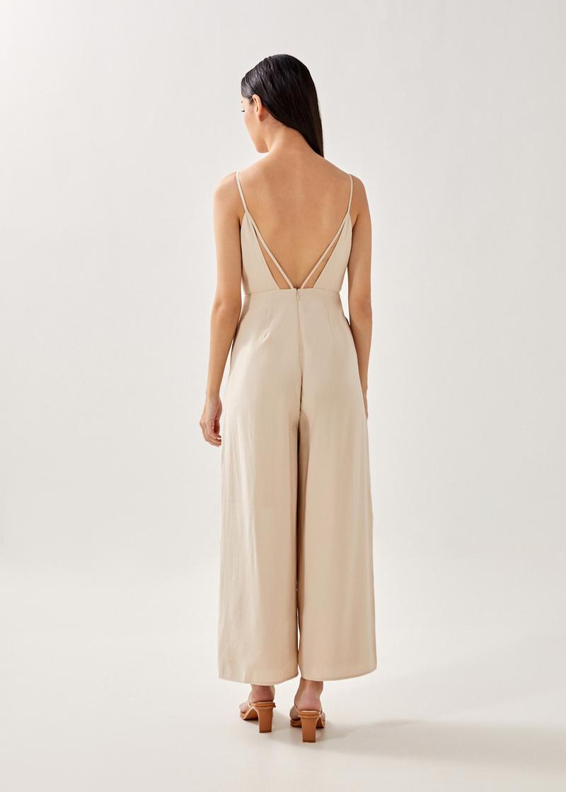 Adriena Padded Strappy Back Jumpsuit