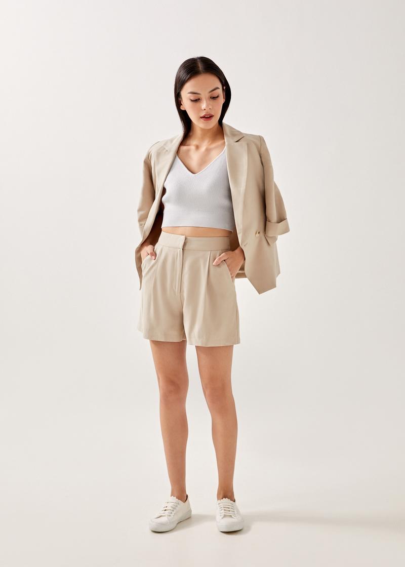Melita Textured Tailored Shorts