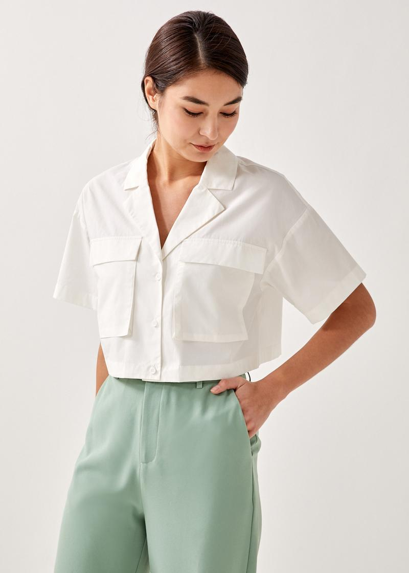 Camdyn Patch Pocket Cropped Top