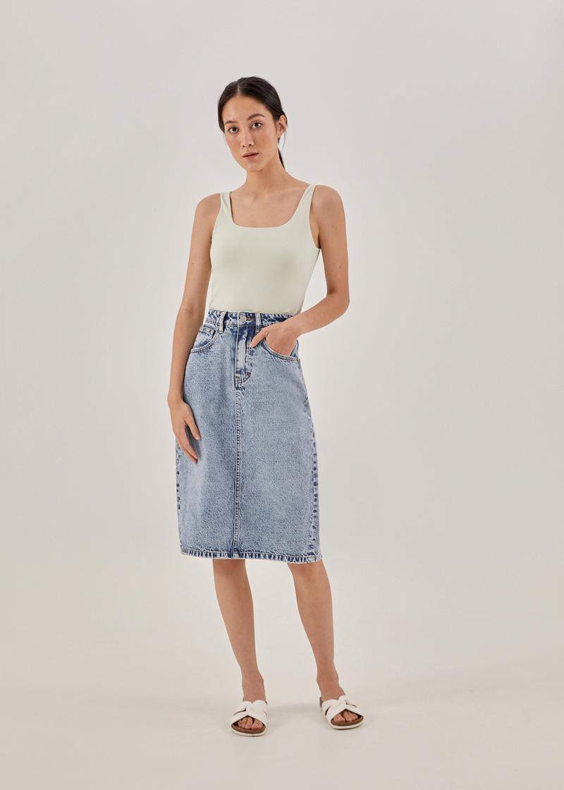 Kacey Classic Denim Pencil Skirt