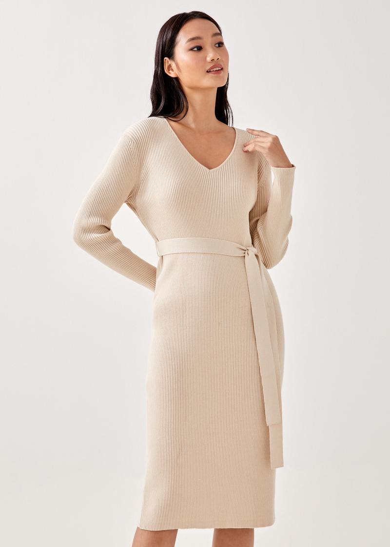 Jesva Column Ribbed Dress