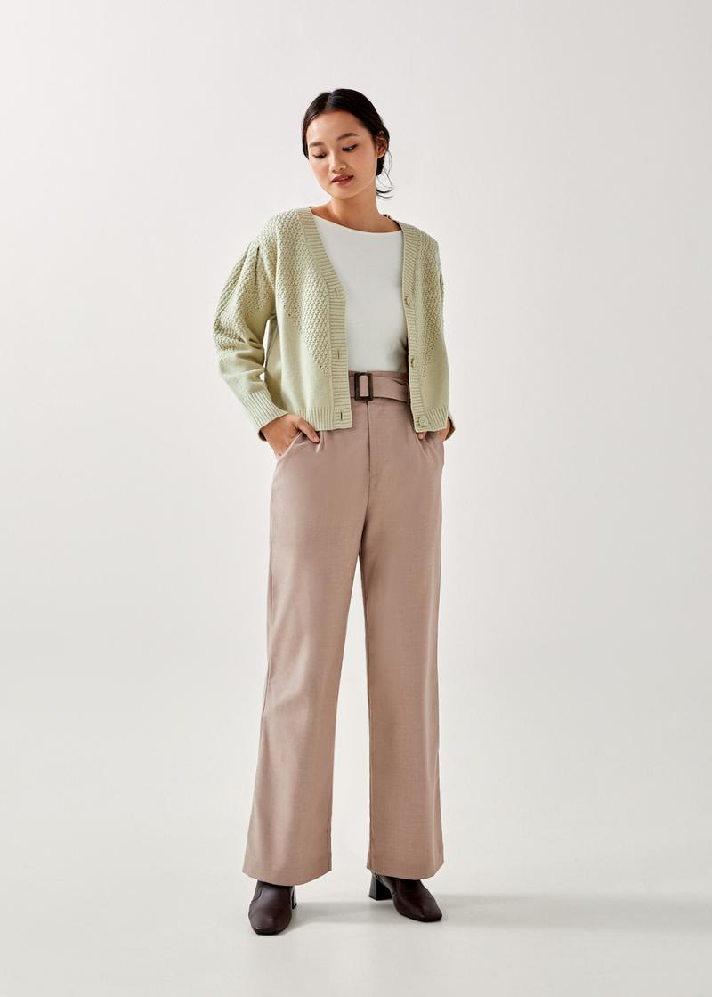 Kimmie Pointelle Cropped Cardigan