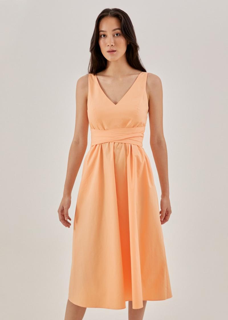 Jemma Padded Sash Dress