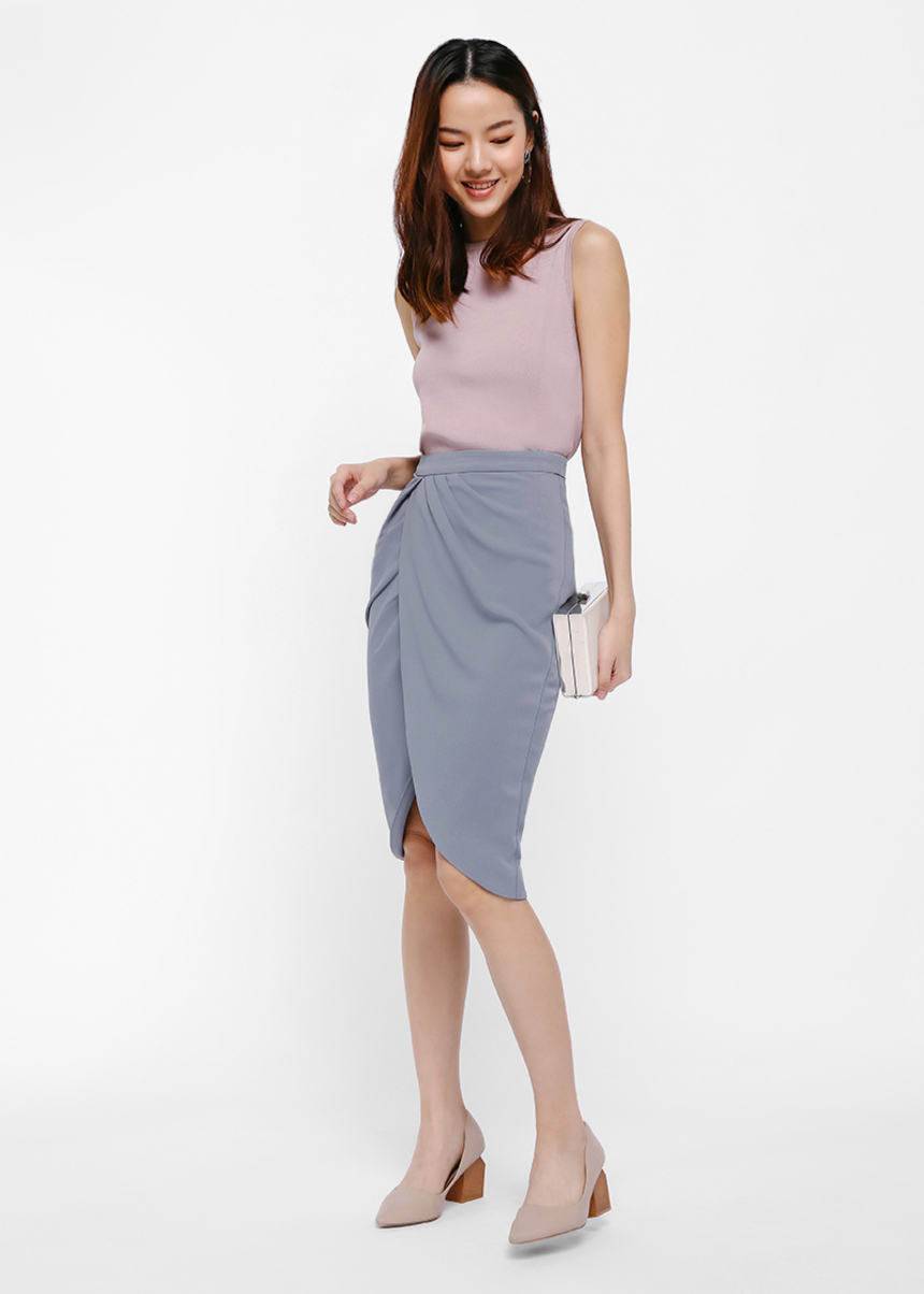 Aleina Wrap Pencil Skirt