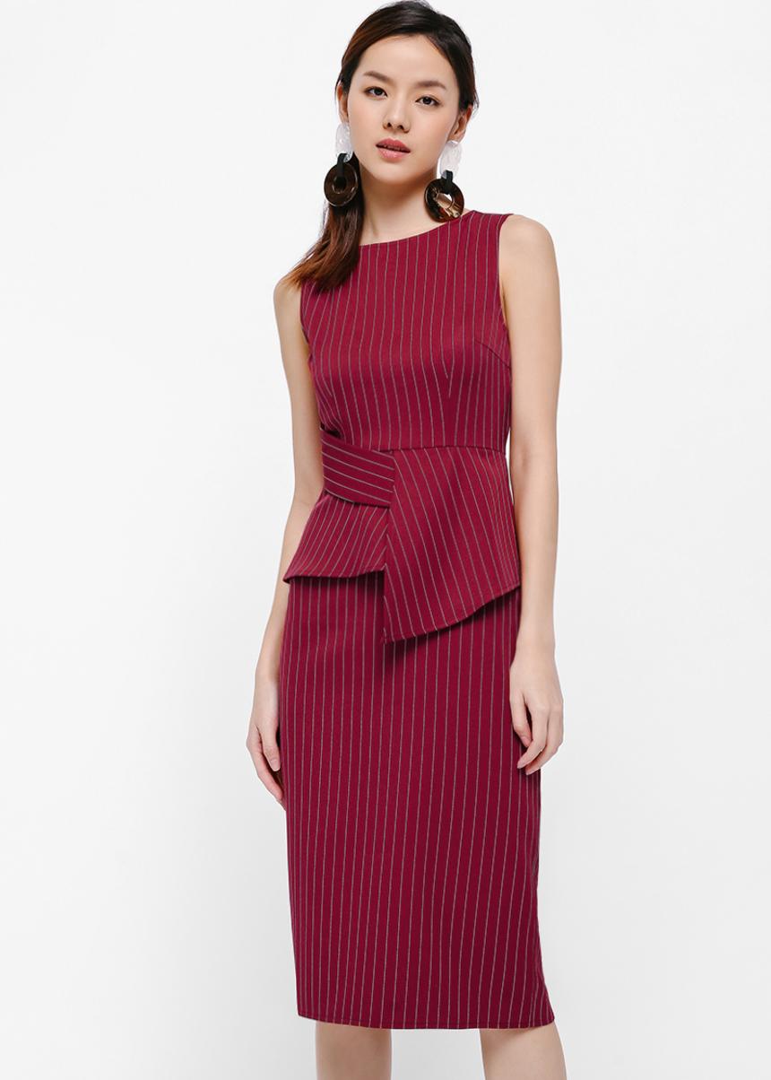 Faushana Layered Midi Dress