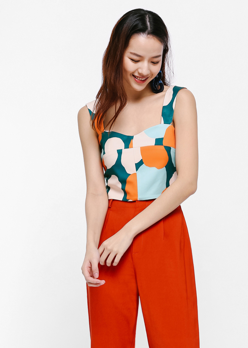 Willa Printed Crop Top