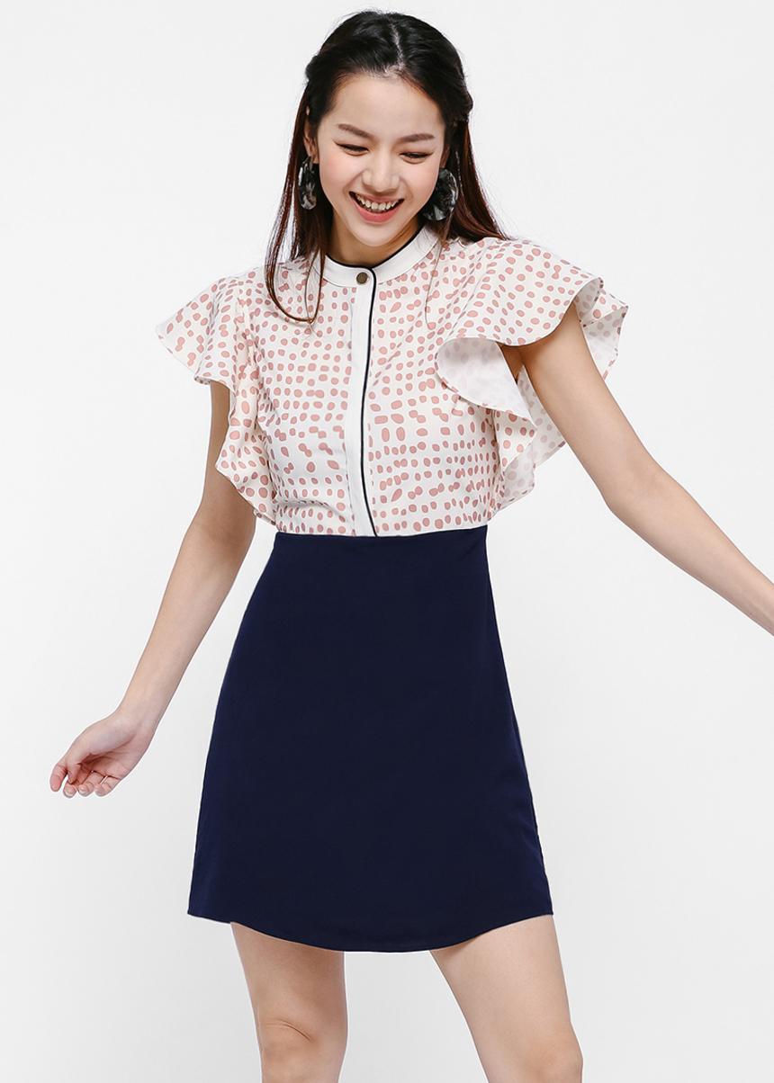 Alexi Ruffle Sleeve Dress