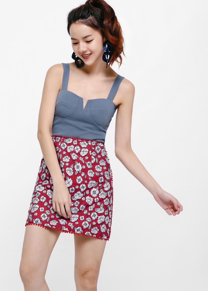 Lordis Jacquard A-line Skirt