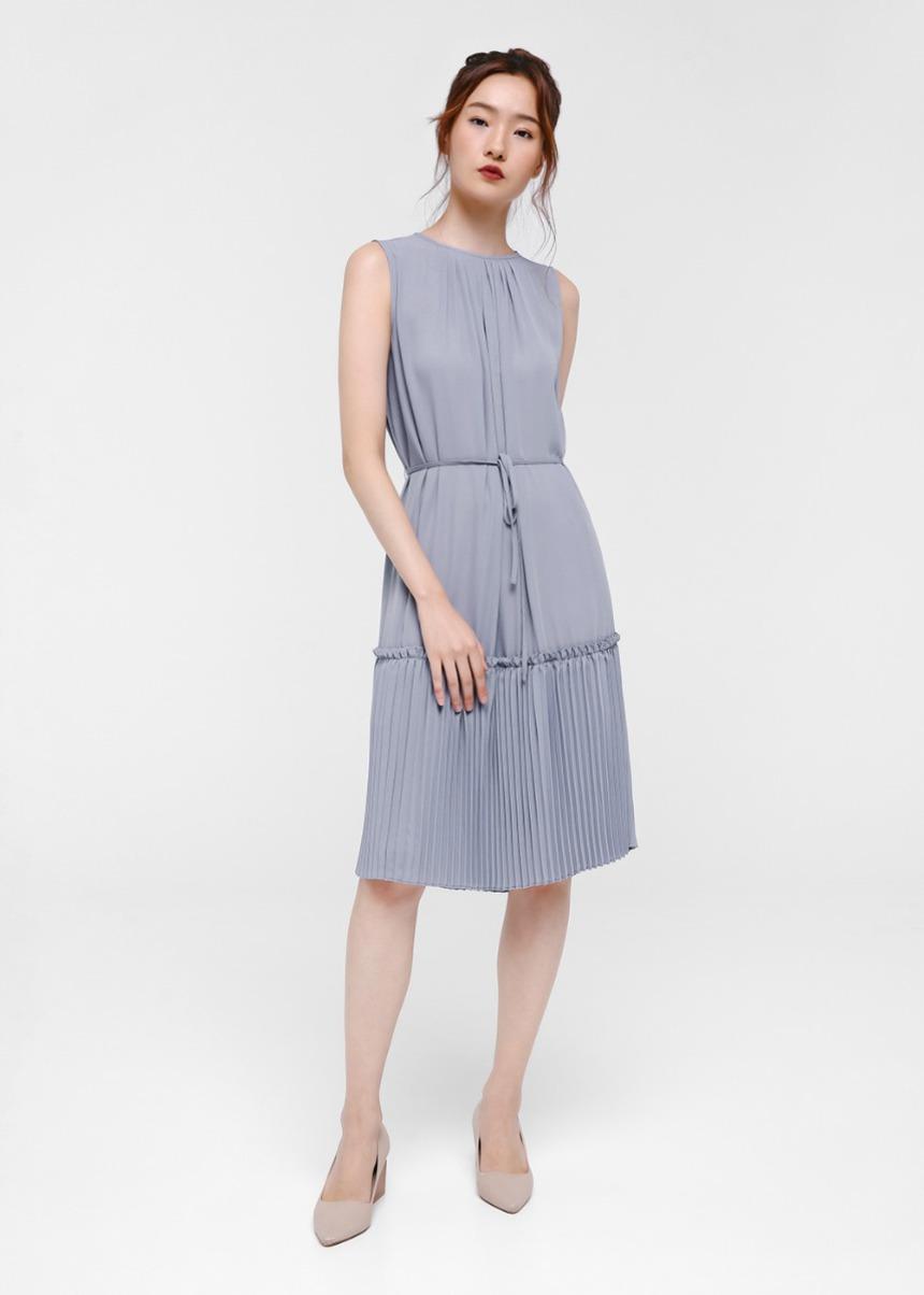 Sadie Pleat Hem Dress