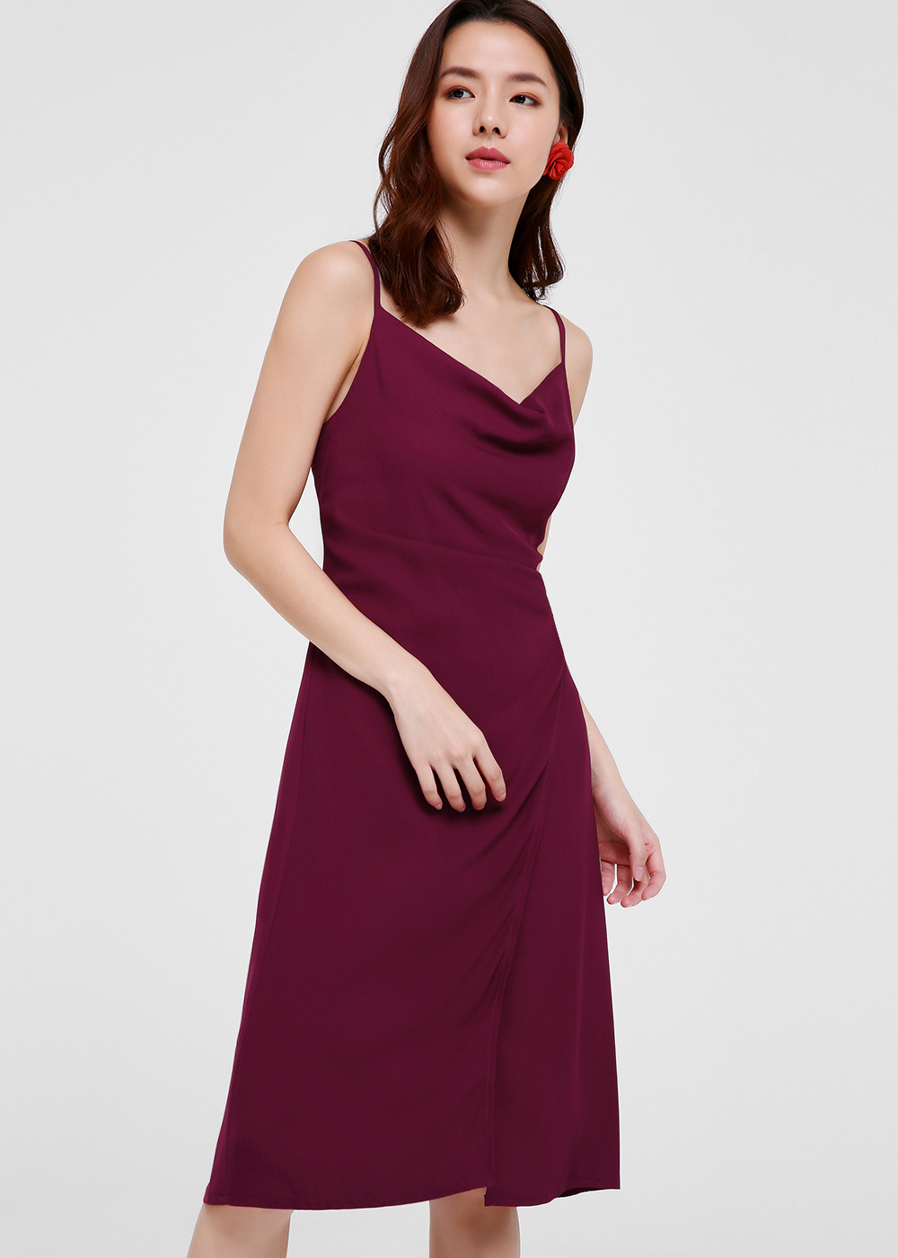 Sacha Cowl Neck Midi Dress