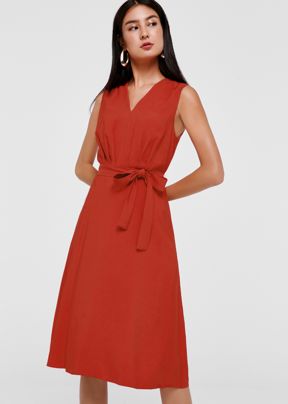 Pedra Tie Front Midi Dress