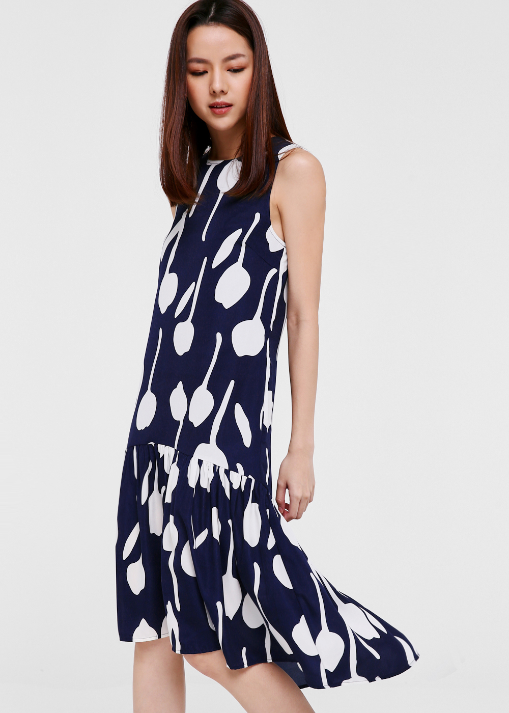 Octavia Drop Hem Midi Dress