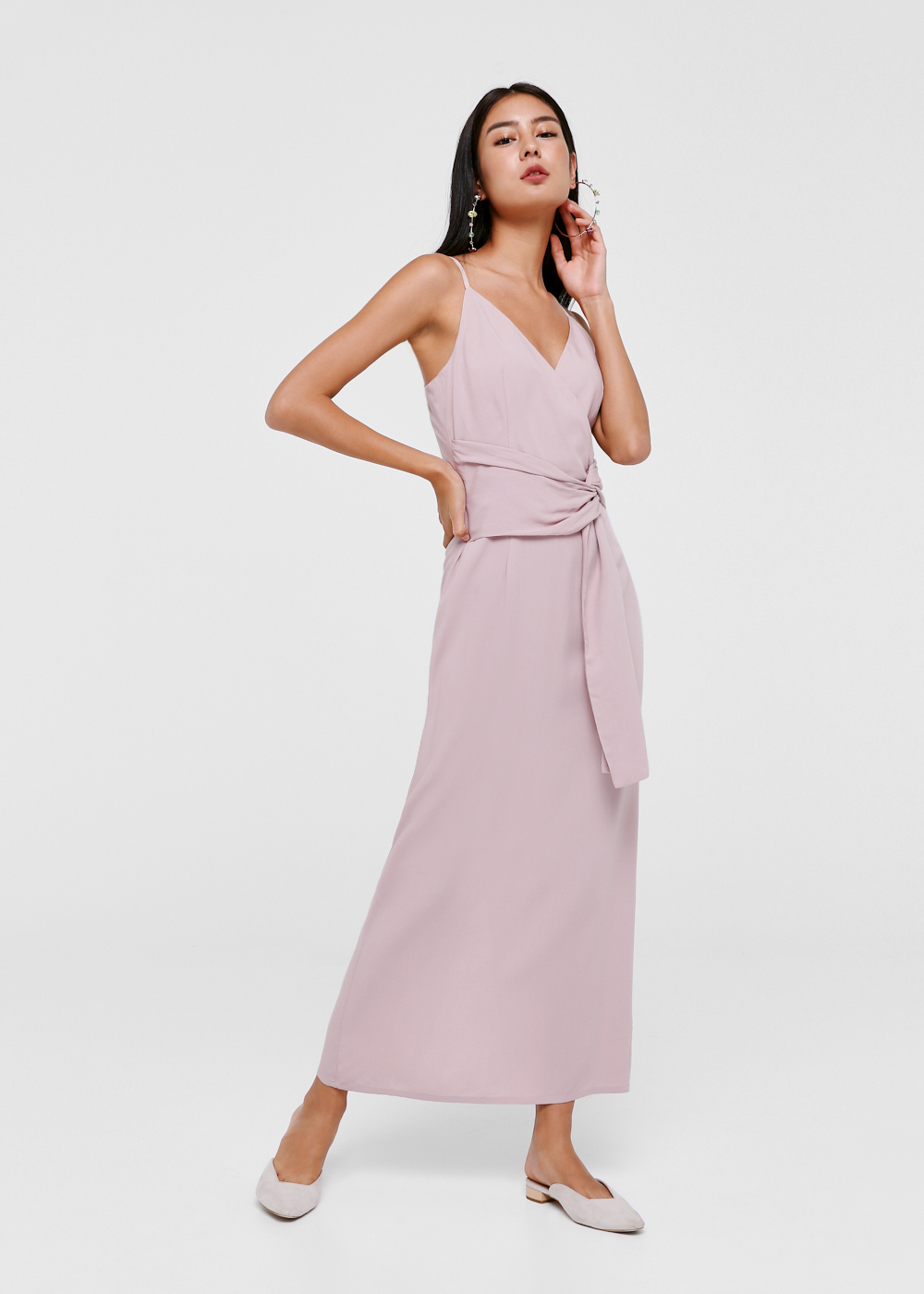 Asriel Twist Front Maxi Dress