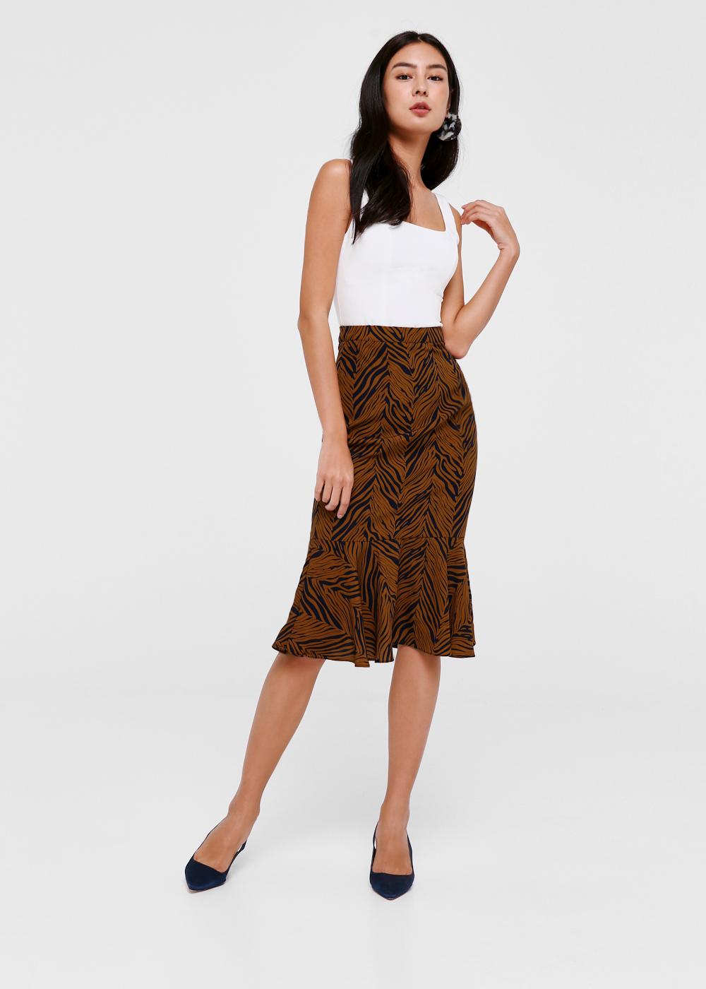 Kenedee Trumpet Midi Skirt