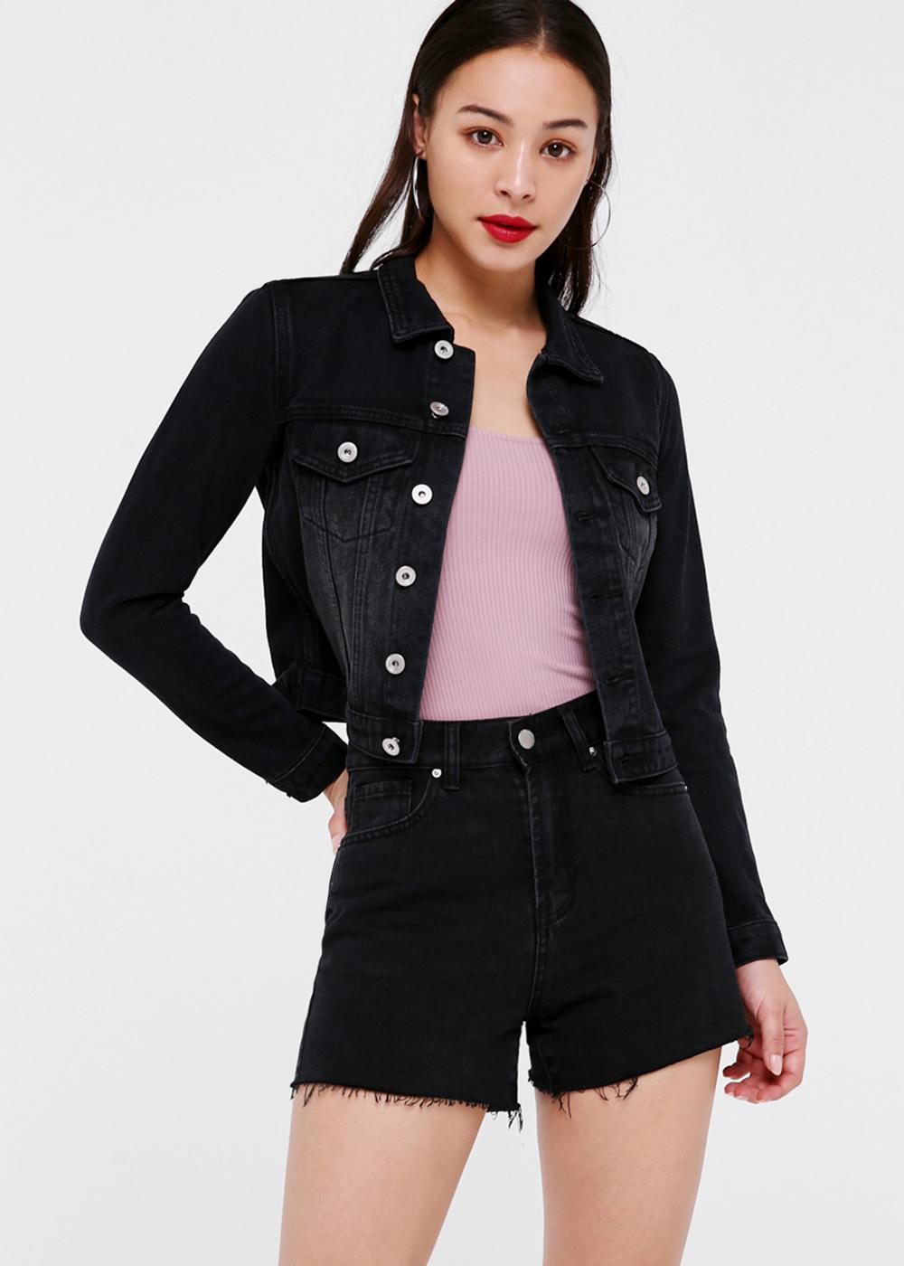 Kim Cropped Denim Jacket