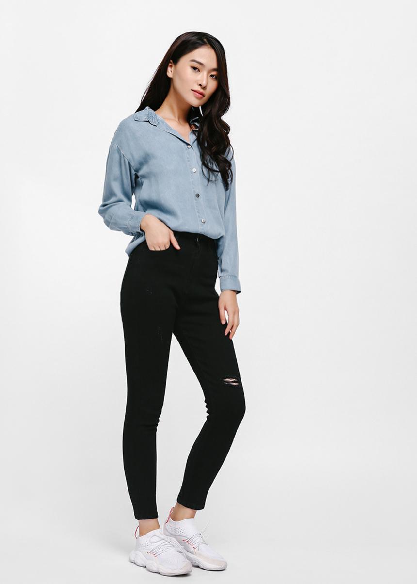 Greta High-rise Skinny Ankle Jeans - Black