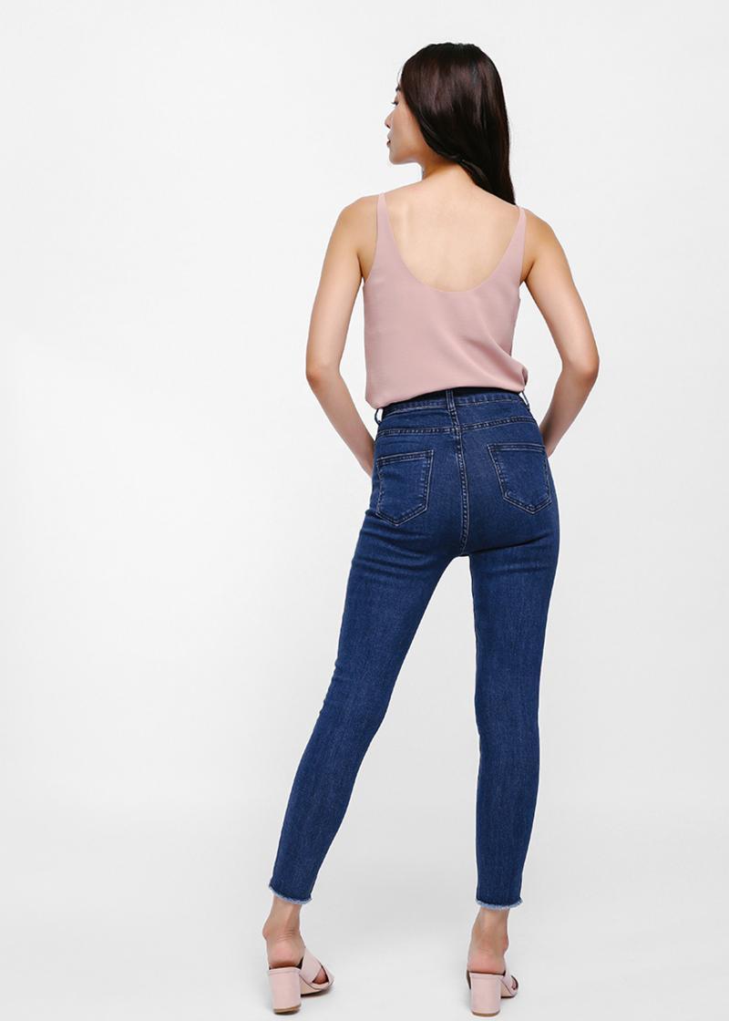 Greta High-rise Skinny Ankle Jeans - Medium Wash