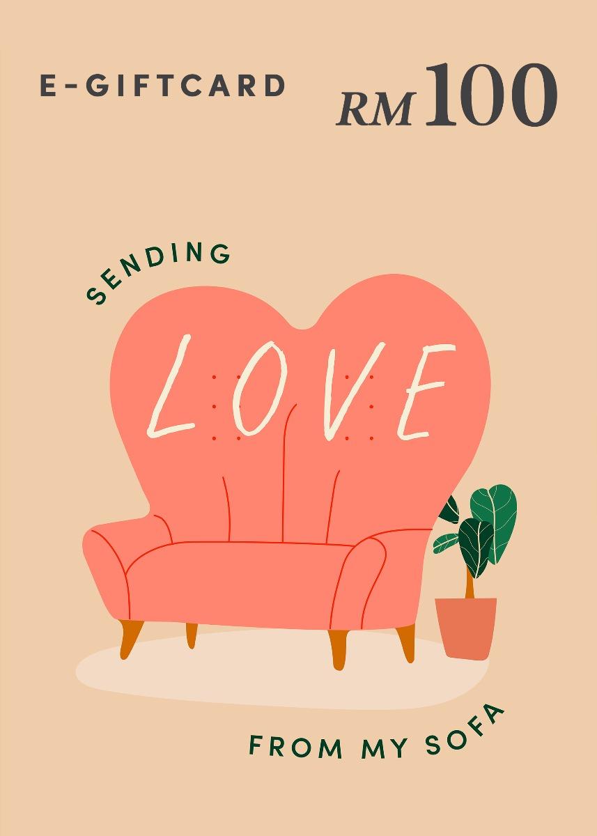 Love, Bonito e-Gift Card - Sending Love From My Sofa - RM100