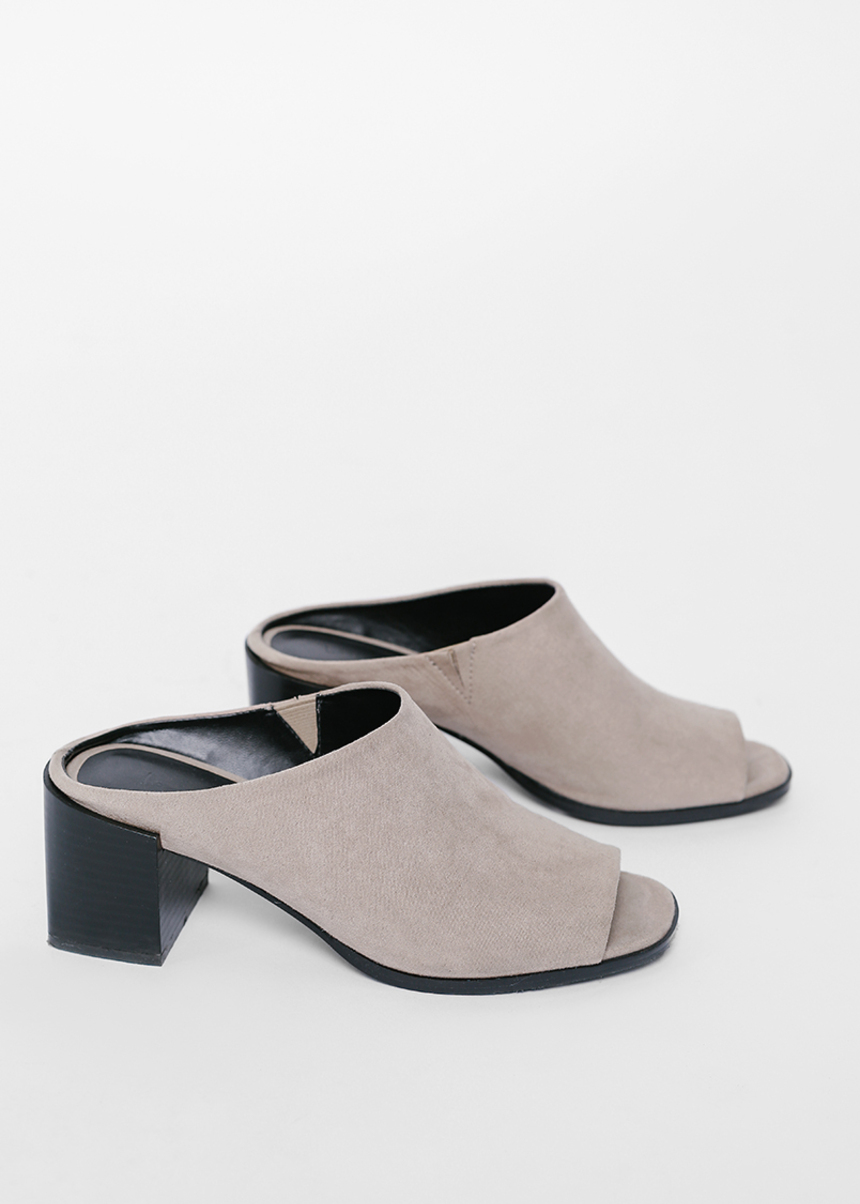 Maesha Open Toe Heeled Mules